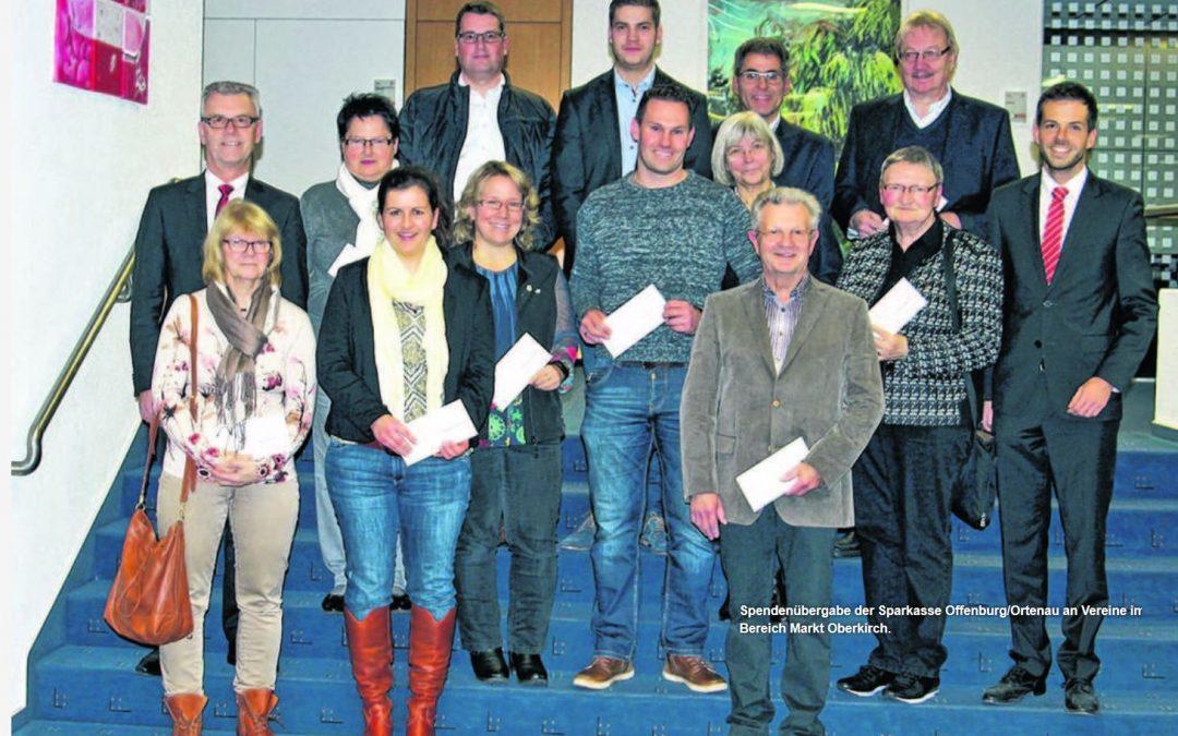 18000 Euro für zwölf Vereine gespendet